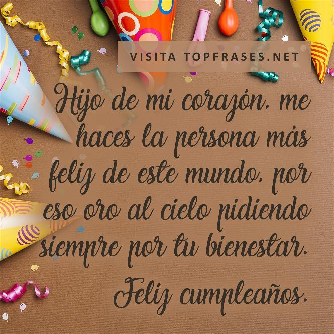 100 Frases Y Mensajes De Cumpleaños Para Un Hijo