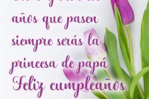 Frases de cumpleaños para una hija