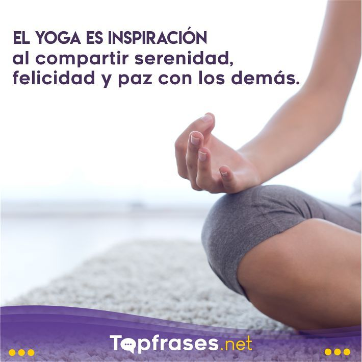 Frases de yoga para reflexionar